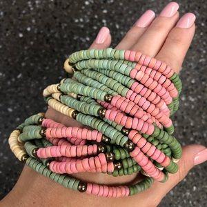 Vintage Colorful Wooden Necklace